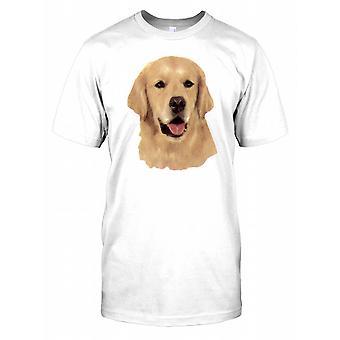 Golden Retriever Portrait Kids T Shirt
