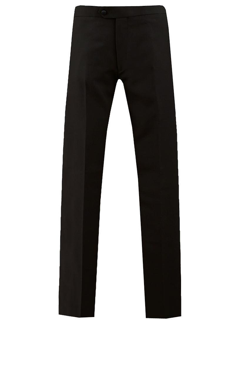 Dobell Mens White 2 Piece Tuxedo Regular Fit Shawl Lapel Evening Dinner Suit Black Trousers