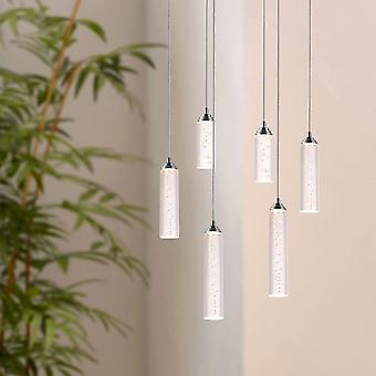 Modern Meteor Chandelier LED 6 Pendant Lamp Ceiling Light Bedroom Oval Canopy New