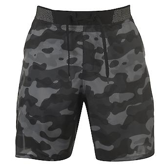 Reebok Mens Epic Lightweight Shorts Poly Pants Trousers Bottoms Print Drawstring