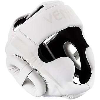 Venum Elite Boxing MMA Headgear - All White