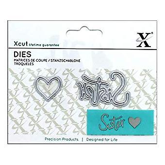 Docrafts Mini Sentiment sterven (2st.) - zuster (XCU 504101)