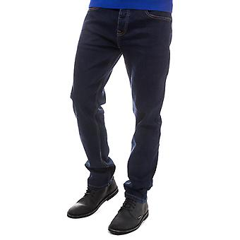 Mens Duck And Cover Mallard Loose Fit Jeans In Denim- Button Fly- Loose Fit-