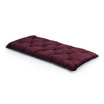 Loft 25 Luxuriöse Velvet Foam Crumb Tufted Single Futon Matress-Burgund