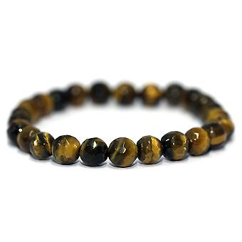 Gul Tiger Eye facetterade armband