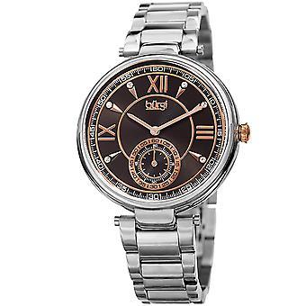 Burgi Women's Quartz Crystal Markers  Silver-Tone Bracelet Watch BUR175SSB