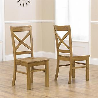 Mark Harris Cavanaugh Solid Oak Dining Chair with Timber Seat