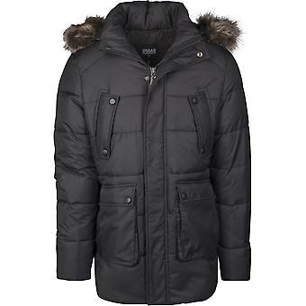 Urban Classics Men's Winter Jacket Faux Fur Hooded Jacket