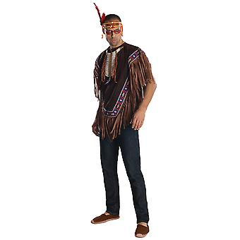 Native American Warrior Indian Western noble livre semaine adulte Mens costume