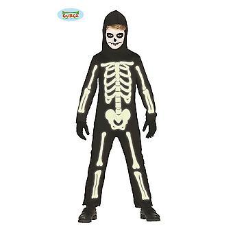 In the Dark Shining Skeleton for Kids Halloween Kids Costume