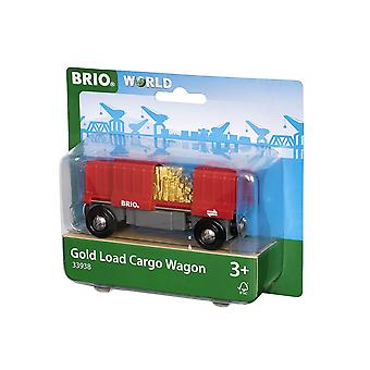 BRIO World - Cargo Wagon with Gold Load