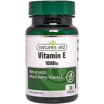 Natures Aid Vitamin E 1000iu Natural Form, 30 softgels