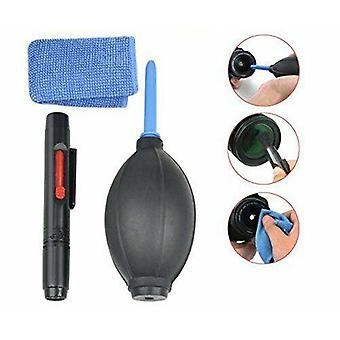 Camera Lens Cleaning Kit - Blower Cleaning Brush Lens Cleaning Pen 2 in 1 Lens Cleaning and 2 Microfiber Cloths - Perfectly Holds the Lens of Your DSLR Compact Camera or Action Camera
