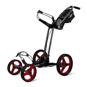 Sun Mountain Pathfinder 4 Wheel Push Cart Golf Trolley Magnetic Grey/Red