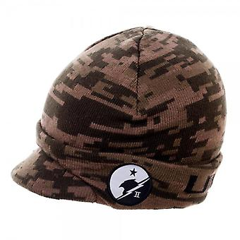 Beanie Cap - Halo - Camo Billed New Licensed kc4gjwhlo