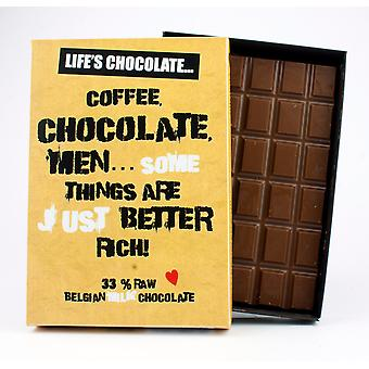 Funny Boxed Chocolate Quote Gift For Women Best Friend Greeting Card for Her LC110