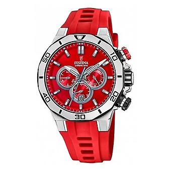 Festina Tour Of Britain 2019 | Red Silicone Strap | Red Dial | F20449/B Watch