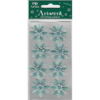 Two Tone Blue Snowflake Craft Embellishment By Artoz