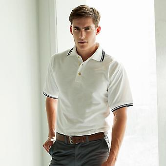 Henbury double tipped collar and cuff polo shirt hb150