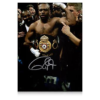 Roy Jones Jr Signed Boxing Photo