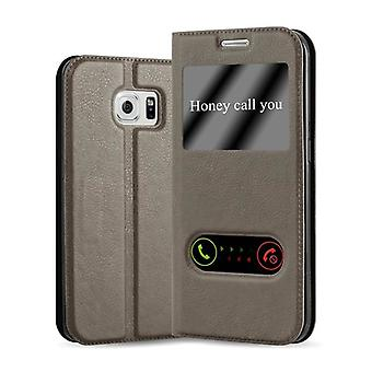 Cadorabo Case for Samsung Galaxy S6 EDGE PLUS Case Cover - Phone Case with Magnetic Closure, Stand Function and 2 Viewing Windows - Case Cover Case Case Case Case Case Book Folding Style