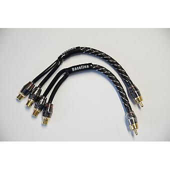Baseline Connect  Y-Adapter 2 x Buchse 1 x Stecker, 3-fach geschirmt, Textil-Flex