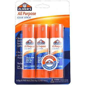 All Purpose Glue Sticks 3 Pkg .77Oz Each E5022