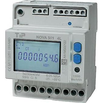 Electricity meter (3-phase) incl. converter jack digital 5 A MID-approved: Yes TIP NOVA 5//1 MID - 4L
