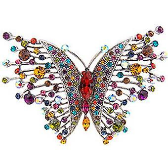 Butler and Wilson Large Multi Crystal Butterfly Brooch