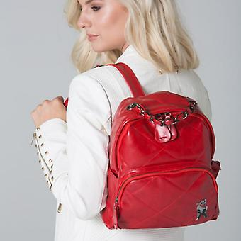 POLAR WHITES RED QUILTED ZIP BACKPACK o : o
