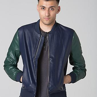 Polar Whites Mens Blue & Green Bomber jacket s : s