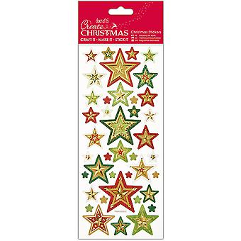 Papermania Create Christmas Foiled & Embossed Stickers-Christmas Stars PM806900