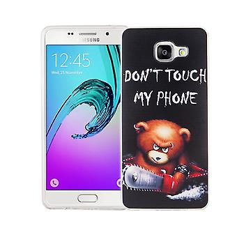 Mobile case for Samsung Galaxy A5 2016 cover case protective bag motif slim silicone TPU lettering bear with chainsaw