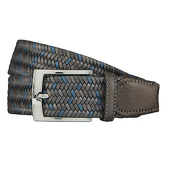OTTO KERN belts men's belts leather belt woven belt grey 4507