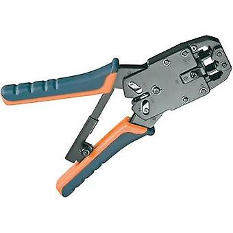 Metal crimping pliers for RJ10/RJ11/RJ12/RJ45 modular plugs, flat telephone cables, cable cutters, wire strippers