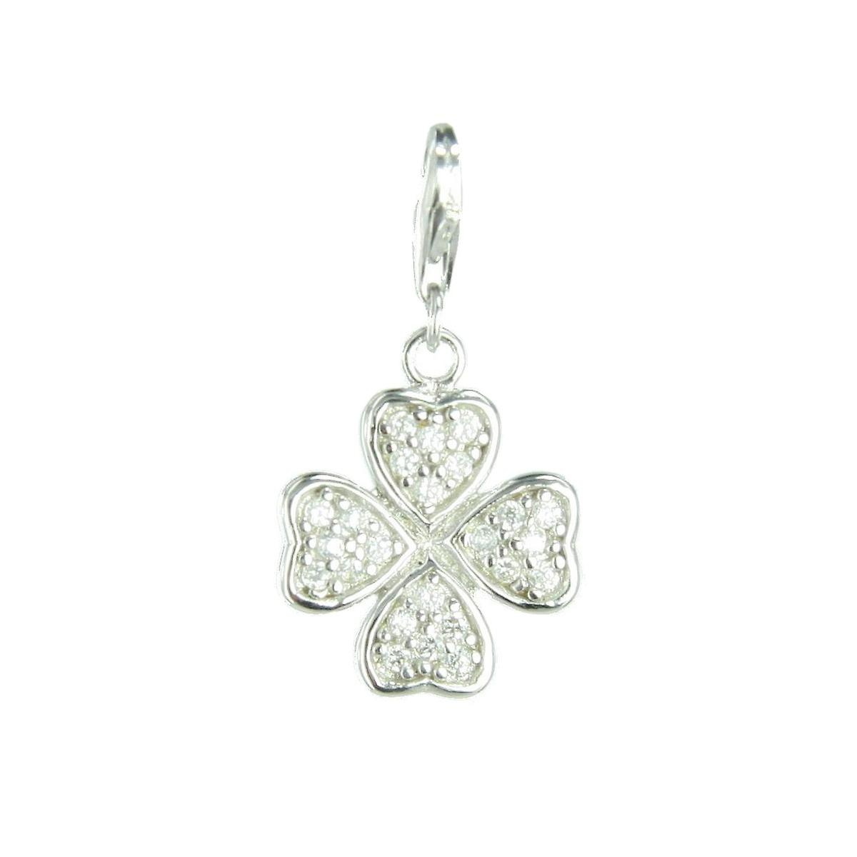 s.Oliver jewel ladies pendant charm silver four-leaf clover SOCHA/118 398657