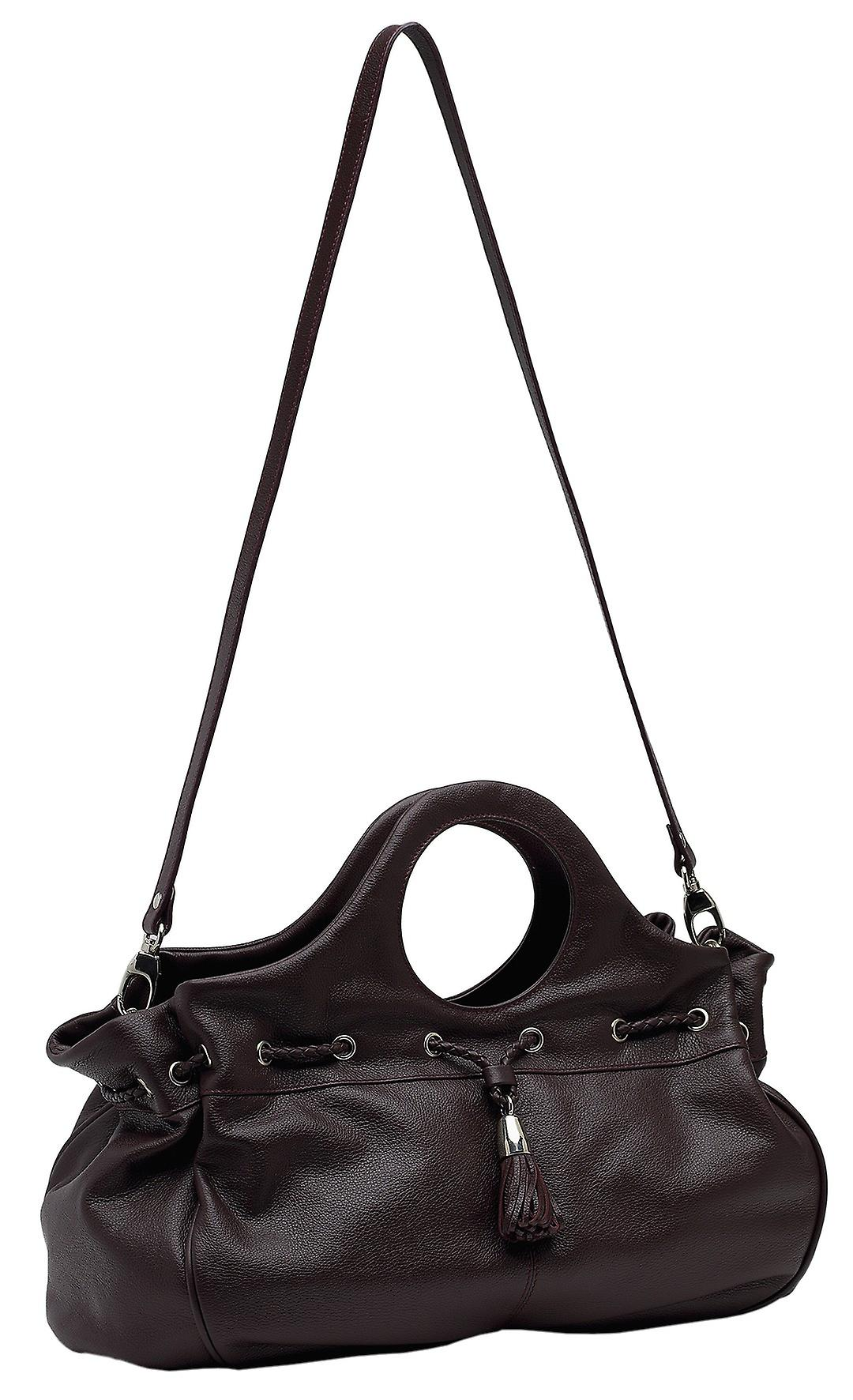 Burgmeister ladies bag T216-114A leather whine red