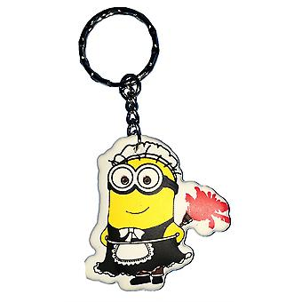 Despicable Me Puffy Key Chain | Minion Keyring | MAID MINION