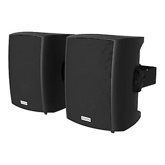 VISION PAIR OF BLACK WALL LOUDSPEAKERS-50w (rms) each, Low-impedance, 3-way with bass reflex, 5.25