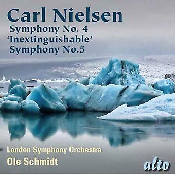 London Symphony Orchestra/Schmidt - Carl Nielsen: Symphony No. 4 Inextinguishable; Symphony No. 5 [CD] USA import