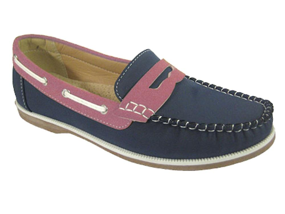 Ladies Coolers Faux Nubuck Deck Leather Loafer Slip-On Boat Deck Nubuck Shoes 1e0f2a