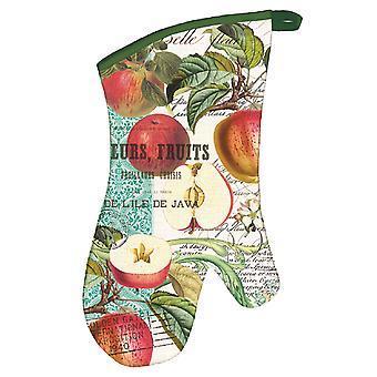 Zoete appel katoen keukenontwerp Oven Mitt Michel werkt