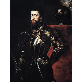 Titian - Peter Paul Rubens Charles V in Armour Poster Print Giclee
