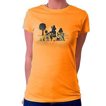 Yellow Fever the Simpsons Walking Dead Women's T-Shirt