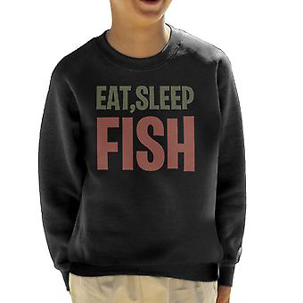 Eat Sleep Fish Kid's Sweatshirt