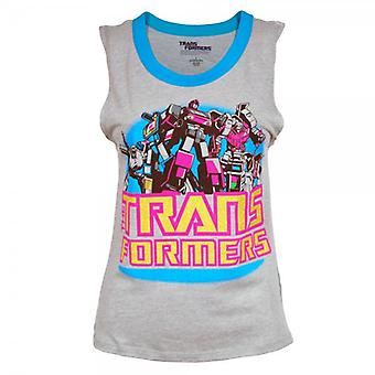 Transformers Womens Transformers Muscle Vest Heather Grey