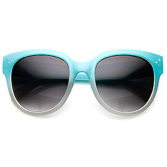 Large Oversized Bold Rim Two-Tone Color Horn Rimmed Sunglasses