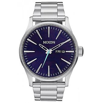Nixon The Sentry SS Watch - Silver/Purple