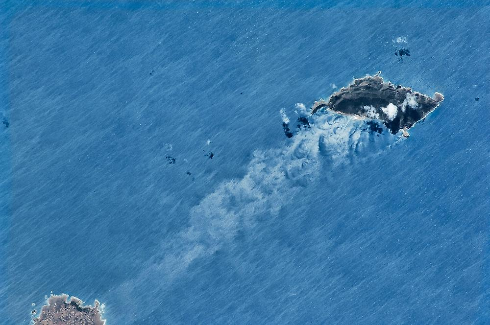 Satellite view of island in the Tyrrhenian Sea Poster Print by Panoramic Images (36 x 24)