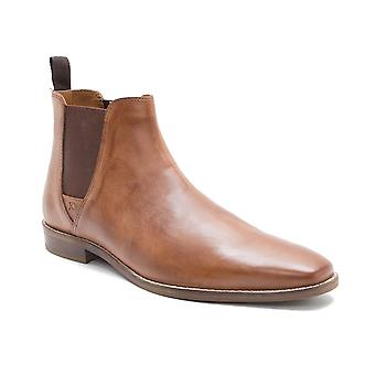Red Tape Tapton Tan Leather Mens Chelsea Boots